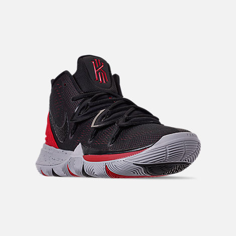5b5747f10225 Three Quarter view of Men s Nike Kyrie 5 Basketball Shoes in University Red  Black