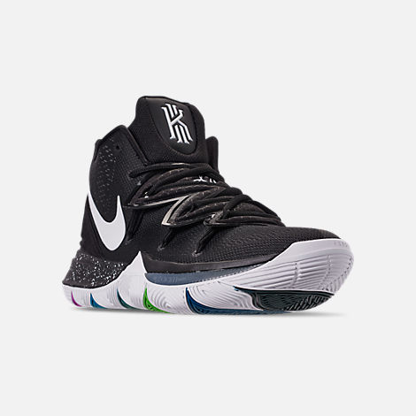 Three Quarter view of Men's Nike Kyrie 5 Basketball Shoes in Multi-Color/White