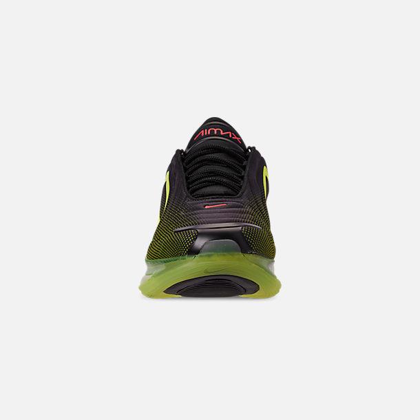 dfa69e35e45d7 Front view of Men's Nike Air Max 720 Running Shoes in Black/Bright Crimson/