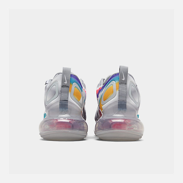 Left view of Men's Nike Air Max 720 Running Shoes in Wolf Grey/Teal Nebula/Red Orbit/White