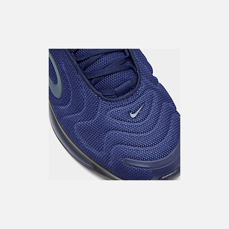 Front view of Men's Nike Air Max 720 Running Shoes in Deep Royal Blue/Blue Void/Chalk Blue