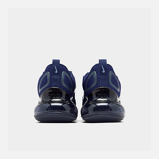 Left view of Men's Nike Air Max 720 Running Shoes in Deep Royal Blue/Blue Void/Chalk Blue