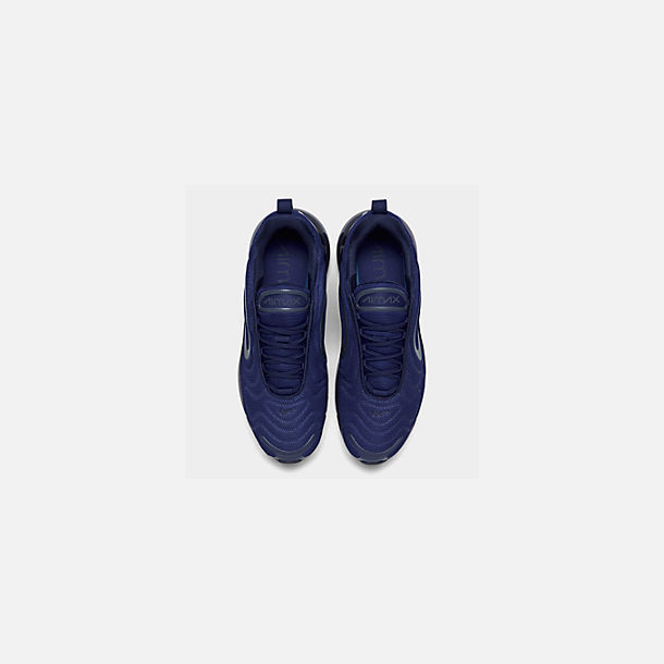 Back view of Men's Nike Air Max 720 Running Shoes in Deep Royal Blue/Blue Void/Chalk Blue