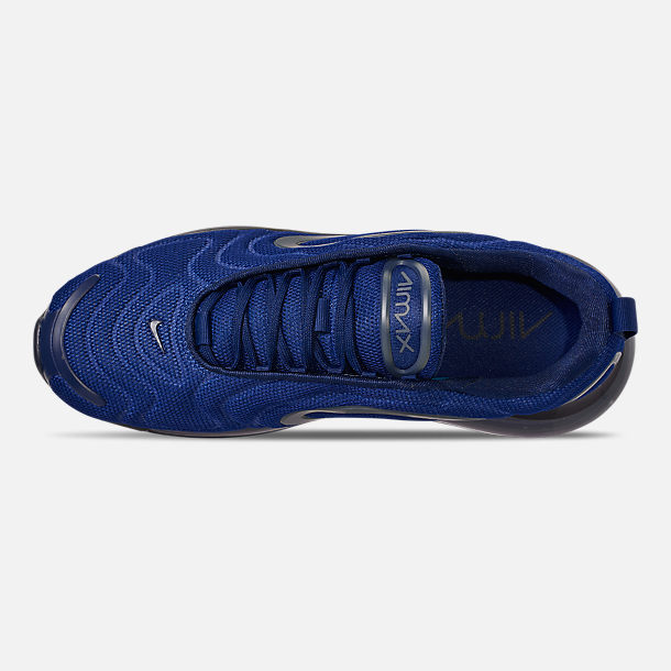 Top view of Men's Nike Air Max 720 Running Shoes in Deep Royal Blue/Blue Void/Chalk Blue