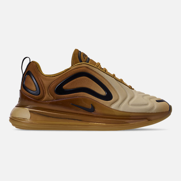 Right view of Men's Nike Air Max 720 Running Shoes in Wheat/Black/Club Gold