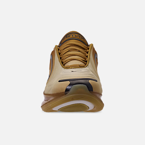 Front view of Men's Nike Air Max 720 Running Shoes in Wheat/Black/Club Gold