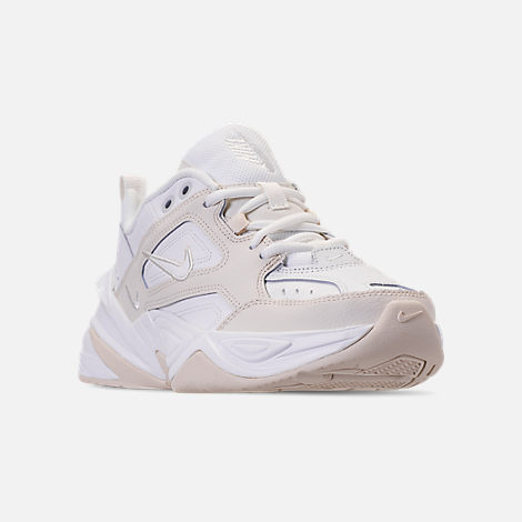 Three Quarter view of Women's Nike M2K Tekno Casual Shoes in Phantom/Summit White
