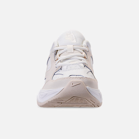 Front view of Women's Nike M2K Tekno Casual Shoes in Phantom/Summit White