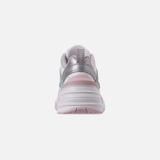 Back view of Women's Nike M2K Tekno Casual Shoes in Summit White/Icey Blue/Barely Rose