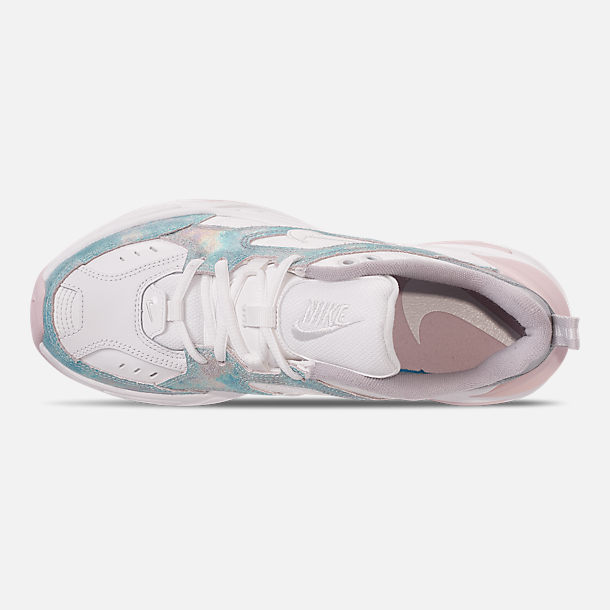 Top view of Women's Nike M2K Tekno Casual Shoes in Summit White/Icey Blue/Barely Rose