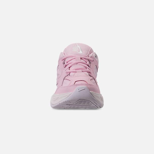 6e7b6da8220 Front view of Women s Nike M2K Tekno Casual Shoes in Pink Foam Black  Phantom