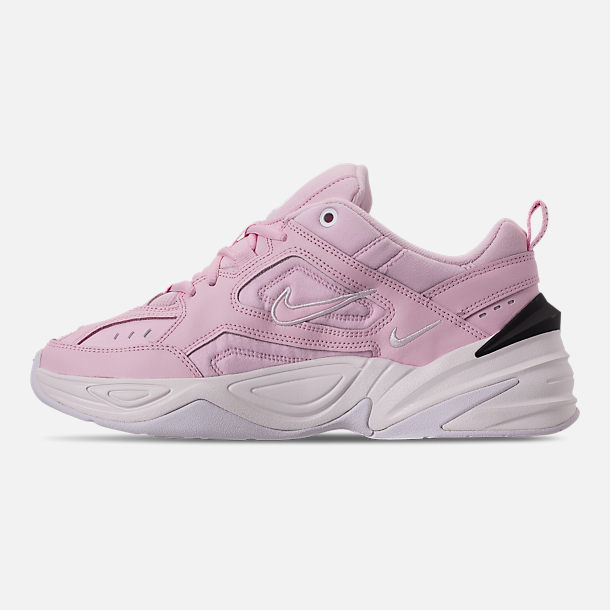 more photos 94d6e 52bed Left view of Women s Nike M2K Tekno Casual Shoes in Pink Foam Black Phantom