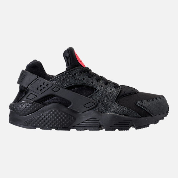 Right view of Men's Nike Air Huarache Run Floral Casual Shoes in Black/University Red