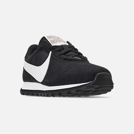 Three Quarter view of Women's Nike Pre-Love O.X. Casual Shoes in Black/Summit White