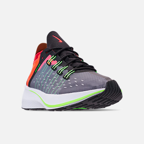 Three Quarter view of Women's Nike EXP-X14 Casual Shoes in Black/Volt/Solar Red/Dark Grey