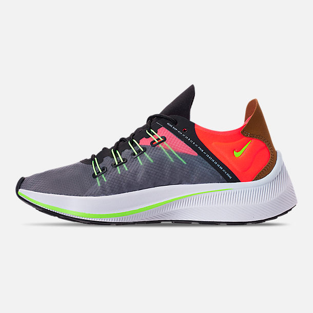 Left view of Women's Nike EXP-X14 Casual Shoes in Black/Volt/Solar Red/Dark Grey