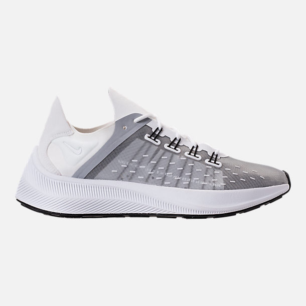 Right view of Women's Nike EXP-X14 Running Shoes in White/Wolf Grey/Black