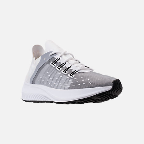 Three Quarter view of Women's Nike EXP-X14 Running Shoes in White/Wolf Grey/Black