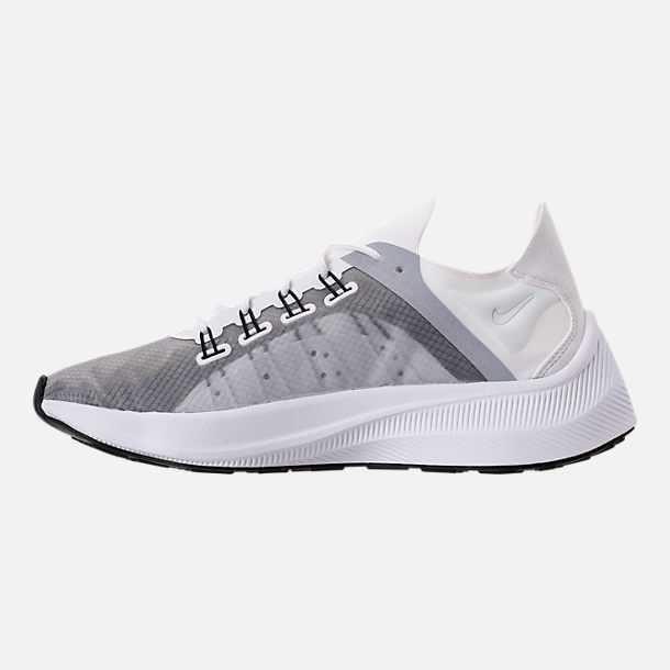 Left view of Women's Nike EXP-X14 Running Shoes in White/Wolf Grey/Black