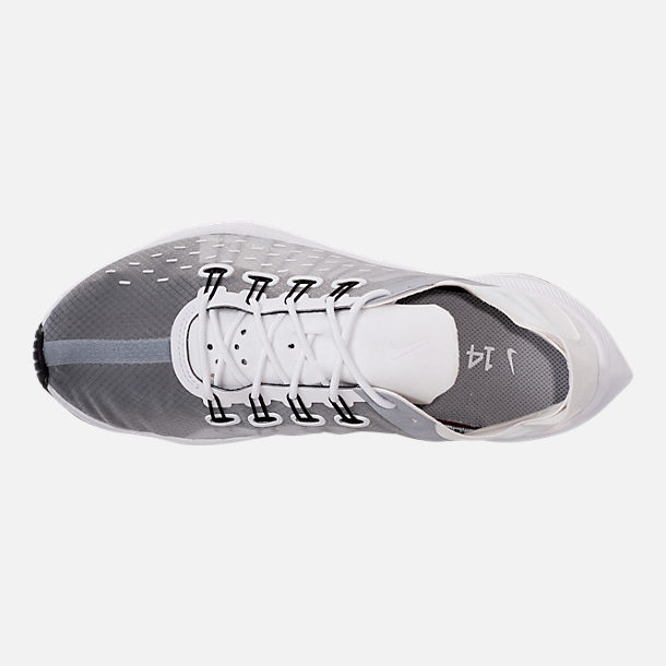 Top view of Women's Nike EXP-X14 Casual Shoes in White/Wolf Grey/Black