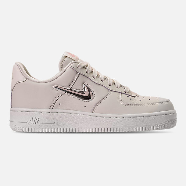 Right view of Women's Nike Air Force 1 '07 Premium LX Casual Shoes in Phantom/Metallic Gold Star/Summit White