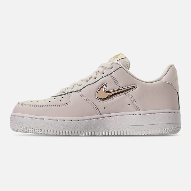 Left view of Women's Nike Air Force 1 '07 Premium LX Casual Shoes in Phantom/Metallic Gold Star/Summit White