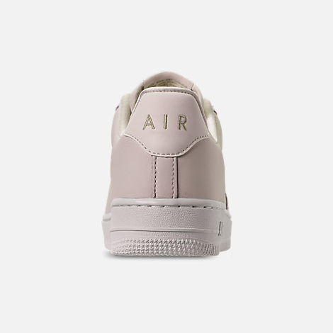 Back view of Women's Nike Air Force 1 '07 Premium LX Casual Shoes in Phantom/Metallic Gold Star/Summit White