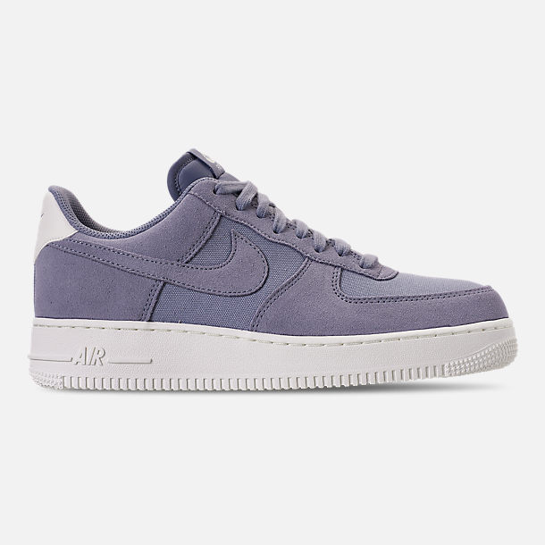 Right view of Men's Nike Air Force 1 '07 Suede Casual Shoes in Ashen Slate/Sail
