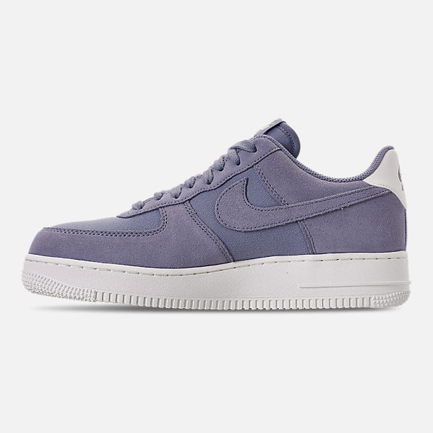Left view of Men's Nike Air Force 1 '07 Suede Casual Shoes in Ashen Slate/Sail