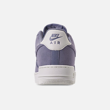 Back view of Men's Nike Air Force 1 '07 Suede Casual Shoes in Ashen Slate/Sail