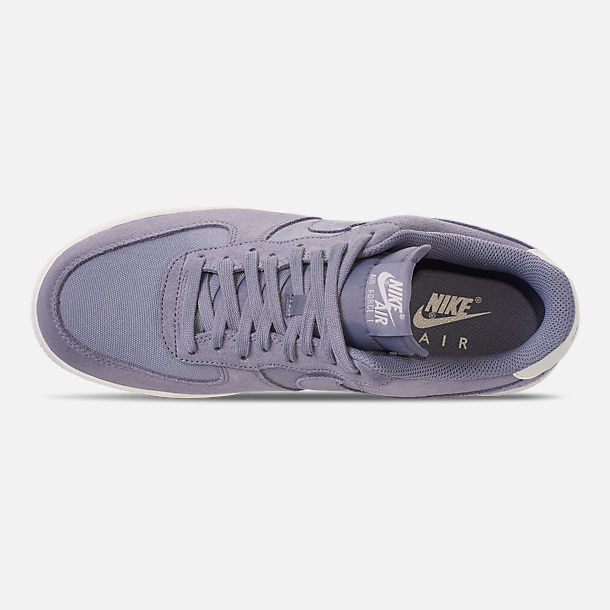 Top view of Men's Nike Air Force 1 '07 Suede Casual Shoes in Ashen Slate/Sail