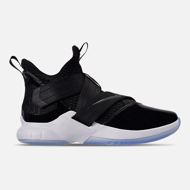 super popular 23adc d2bf5 Right view of Men s Nike LeBron Soldier 12 SFG Basketball Shoes in  Black Black