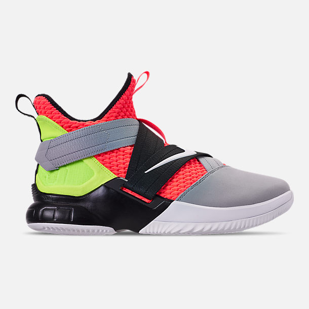 b24065ee7d222 Right view of Men s Nike LeBron Soldier 12 SFG Basketball Shoes in Hot  Lava White