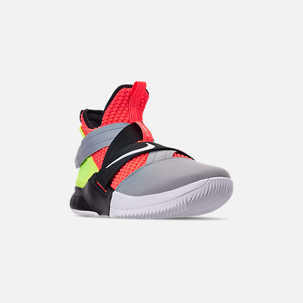 ef4141001f306 Three Quarter view of Men s Nike LeBron Soldier 12 SFG Basketball Shoes in  Hot Lava