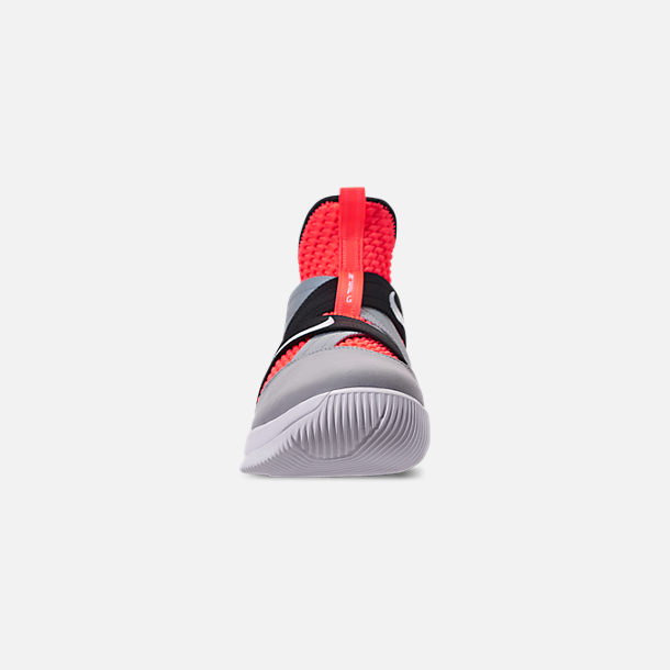 2f51fc6d02dc0 Front view of Men s Nike LeBron Soldier 12 SFG Basketball Shoes in Hot  Lava White