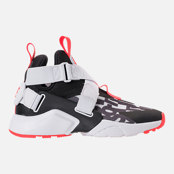 d49054451f79 norway right view of big kids nike huarache city jdi premium casual shoes  in black 46876