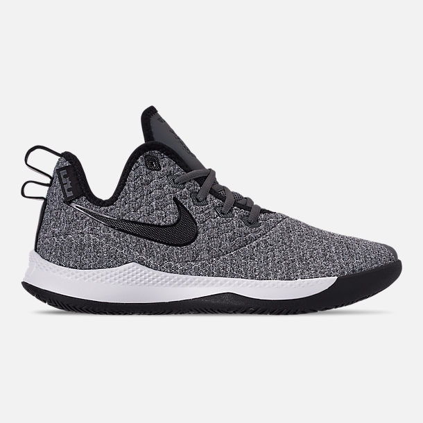 fddb4575b606 Right view of Men s Nike LeBron Witness 3 Basketball Shoes in Dark Grey  Black