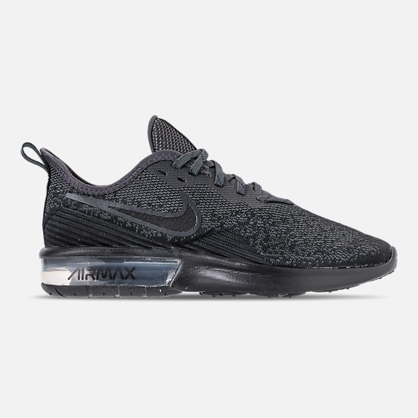 Right view of Women's Nike Air Max Sequent 4 Casual Shoes in Black/Anthracite