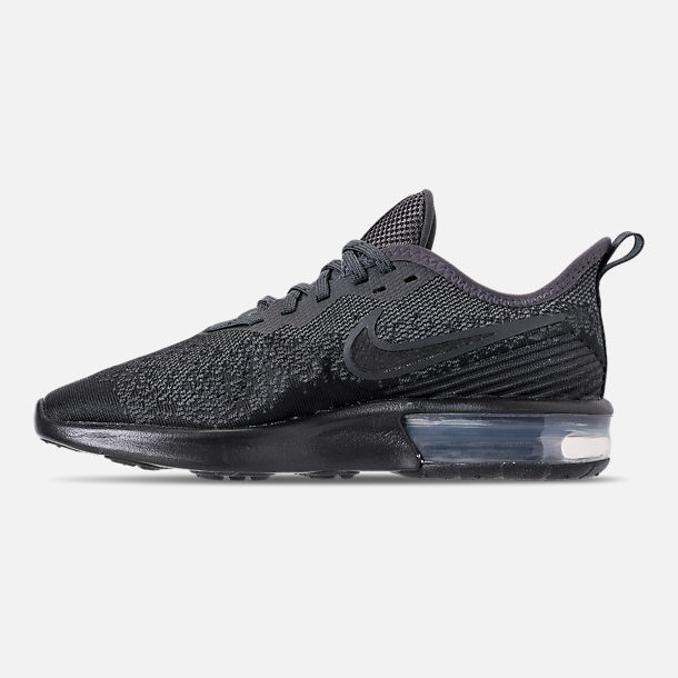 Left view of Women's Nike Air Max Sequent 4 Casual Shoes in Black/Anthracite