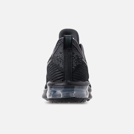 Back view of Women's Nike Air Max Sequent 4 Casual Shoes in Black/Anthracite
