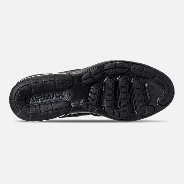 Bottom view of Women's Nike Air Max Sequent 4 Casual Shoes in Black/Anthracite