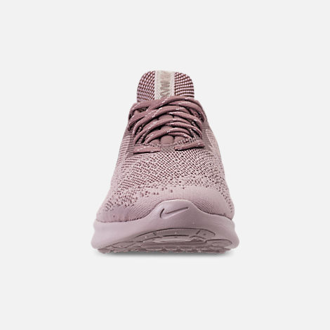 Front view of Women's Nike Air Max Sequent 4 Casual Shoes in Particle Rose/Particle Rose/Smokey Mauve