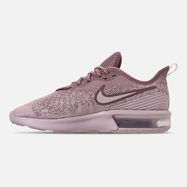 f80e93555a76e0 Left view of Women s Nike Air Max Sequent 4 Casual Shoes in Particle  Rose Particle