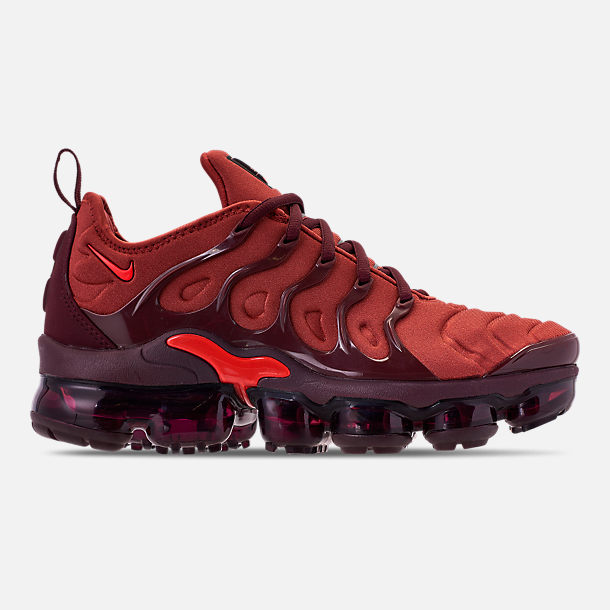1501ed1ab7 Right view of Women's Nike Air VaporMax Plus Running Shoes in Burnt  Orange/Habanero Red