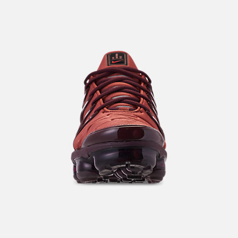 e49c444b768 Front view of Women s Nike Air VaporMax Plus Casual Shoes in Burnt  Orange Habanero Red