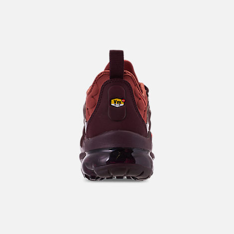separation shoes 2ed0c 296b4 Back view of Women s Nike Air VaporMax Plus Running Shoes in Burnt  Orange Habanero Red