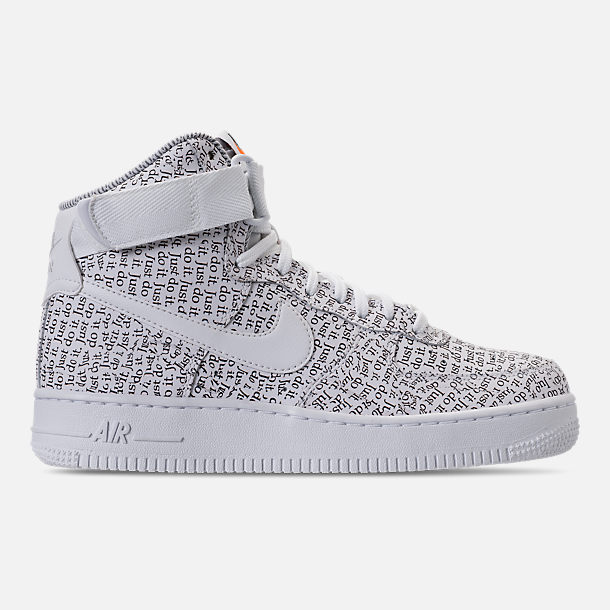 Right view of Women s Nike Air Force 1 High LX Casual Shoes in White White efc506545a