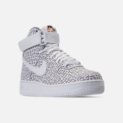 Three Quarter view of Women s Nike Air Force 1 High LX Casual Shoes in  White  06af71ae5