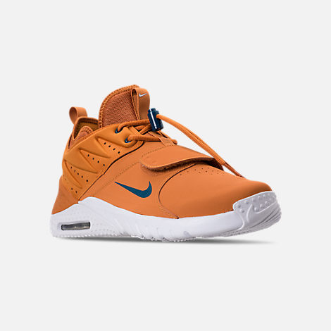 Three Quarter view of Men's Nike Air Max Trainer 1 Leather Training Shoes in Monarch/Blue Force/White