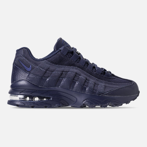 Right view of Boys' Big Kids' Nike Air Max 95 AMD Casual Shoes in Midnight Navy/Midnight Navy/Thunder